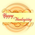 Happy thanksgiving day with autumn colors circles orange text and holiday greeting card Stock Photos