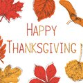 Happy Thanksgiving Day Background. Hand drawn vector illustration