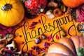 Happy Thanksgiving Day holiday background postcard concept cornucopia full harvest fruit vegetable Hand drawn greeting card autumn Royalty Free Stock Photo