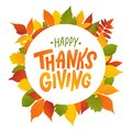 Happy thanksgiving. Hand drawn text Lettering card. Vector illustration. Royalty Free Stock Photo