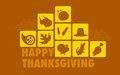Happy thanksgiving illustration of collage background Stock Photo