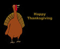 Happy thanksgiving illustration showing a turkey and the words Stock Photo