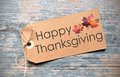 Happy thanksgiving label Royalty Free Stock Photo