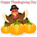 Happy Thanksgiving Turkey and Pumpkins