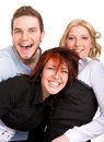 Happy three friends Royalty Free Stock Image