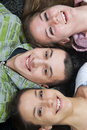 Happy Three Teens Royalty Free Stock Photo