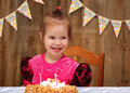 Happy three year old girl birthday Royalty Free Stock Photo