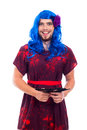 Happy transvestite portrait Stock Images