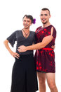 Happy transvestites portrait Stock Photo
