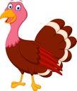 Happy turkey cartoon