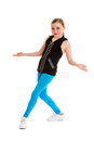 Happy tween hip hop dancer aged smiles as she poses Stock Image