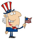 Happy uncle sam Royalty Free Stock Photography