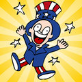 Happy Uncle Sam Royalty Free Stock Photos
