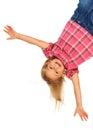 Happy upside down Royalty Free Stock Photo
