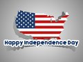 Happy usa independence day card with abstract map vector illustration Royalty Free Stock Image