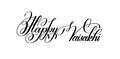 happy vaisakhi hand written lettering inscription to indian holiday