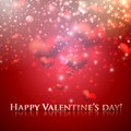 Happy valentine's day holiday background with hearts and sparkles Royalty Free Stock Photos