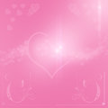 Happy valentine day background with hearts pink s Royalty Free Stock Photography