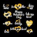 Happy Valentine Day Hand Drawn Quotes