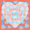 Happy valentine day with heart background