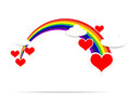Happy Valentine day heart cloud and rainbow 001 Royalty Free Stock Photo