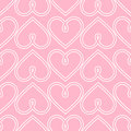 Happy Valentine's Day background. Pink seamless vector heart pattern.