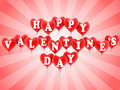 Happy valentine's day balloons Stock Photos