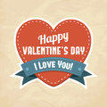 Happy Valentine's Day card Royalty Free Stock Photography