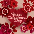 Happy Valentine`s Day Card with flowers.