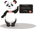 Happy Valentine's Day Card with panda bear