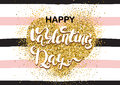 Happy Valentine's day card on the seamless pattern background wi