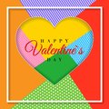 Happy Valentine`s Day. 3d paper cut heart concept design greeting card. Paper carving heart shapes with shadow. February 14. Vect
