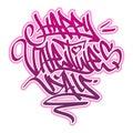 Happy Valentine´s Day Graffiti.