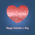 Happy Valentine`s Day greeting card with heart and text
