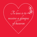 Happy Valentine`s Day Greeting Card on red background.