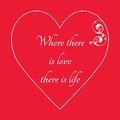 Happy Valentine`s Day Greeting Card on red background,