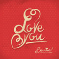 Happy valentine s day hand lettering in retro style Royalty Free Stock Photos