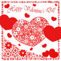 Happy valentine`s day - heart flowers collection