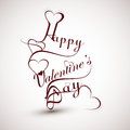 Happy valentine s day heart for lettering text design card Stock Photos