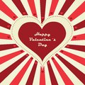 Happy valentine s day lettering greeting card background vector illustration Stock Photos