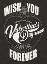 Happy valentine s day lettering in vintage styled design retro greeting card for typographic Royalty Free Stock Image