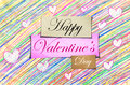 Happy valentine s day pencil color colorful Royalty Free Stock Photography