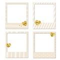 Happy Valentine's day Polaroid frames
