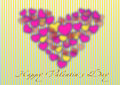 Happy valentine s day postcard Royalty Free Stock Photo