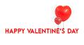 Happy Valentine's Day with red balloon heart shape tie at type,L