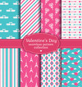 Happy Valentine's Day! Set of love and romantic seamless pattern Royalty Free Stock Photo