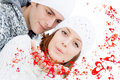 Happy valentines couple in love Royalty Free Stock Photo