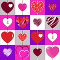 Happy Valentines Day background and checkered seamless texture with the Hearts.