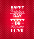 Happy valentines day background i love you february vector illustration�� Stock Photos