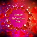 Happy Valentines Day Card With Bokeh Royalty Free Stock Photo